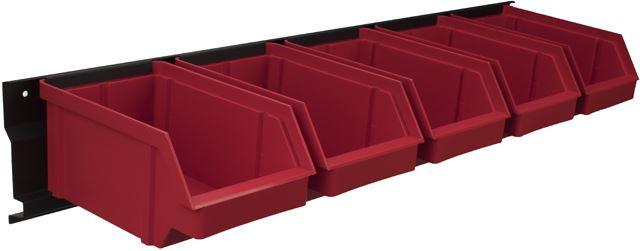 Listwa + kuwety 5xL czerwone / BAR+5L-R