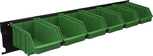 Listwa + kuwety 6xM zielone / BAR+6M-G