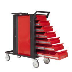 Wózek spawalniczy TIG -7 szuflad, czerwony