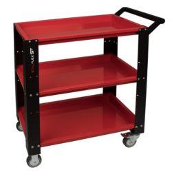 Wózek warsztatowy,3 półki-czerwony