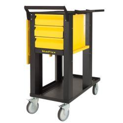 Wózek spawalniczy TIG -3 szuflady, żółty