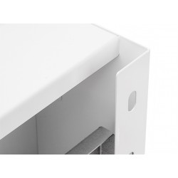 Universal metal housing/ enclosure, 300x300x100 mm, white with distance   OU-300X300X100PMO