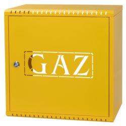 Skrzynka gazowa 600x600x250, żółta