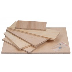 8mm plywood for housing 400x400 + 4 screws