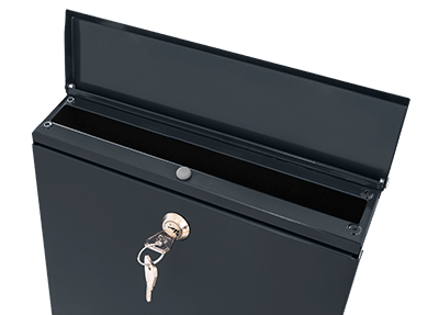 Wall-mounted letterbox 365x250x50 mm, galvanized-anthracite