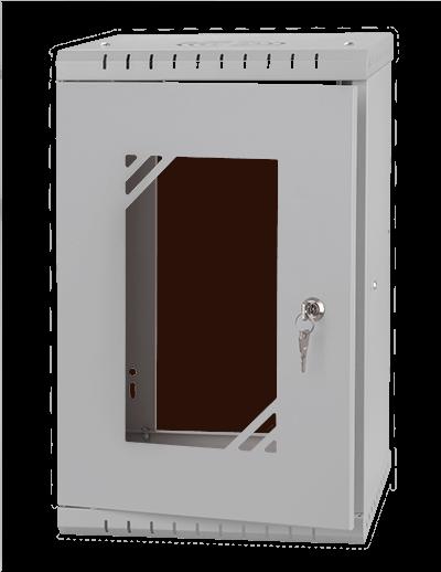 """Szafa RACK 10"""" 9U 300MM, szkło-szara - Stalflex"""