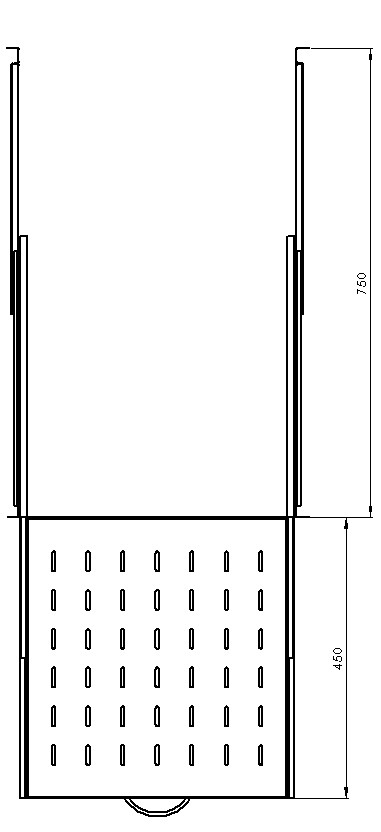 Technical drawing - sliding shelf 19